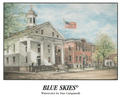 Blue Skies Watercolor by Dan Campanelli