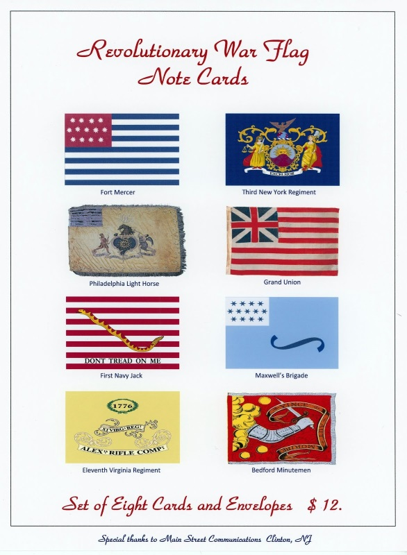 Revolutionary War Flag Note Cards